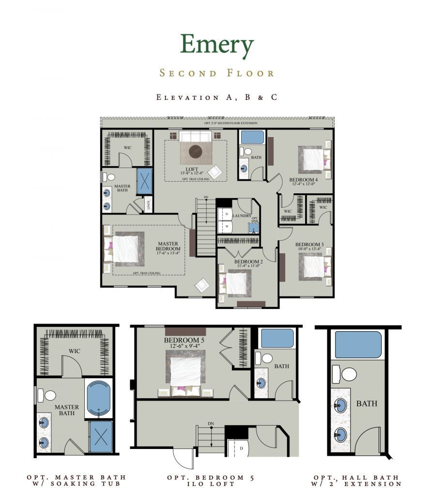 Emery home plan second floor