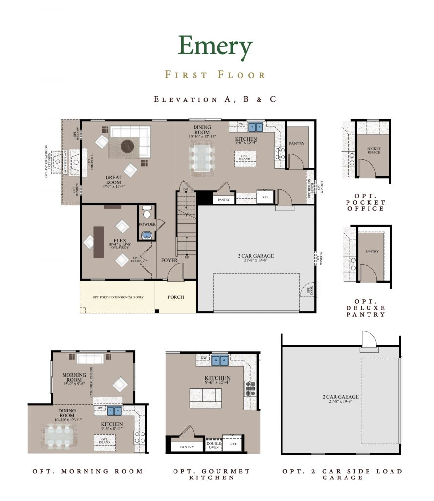 Emery home plan first floor