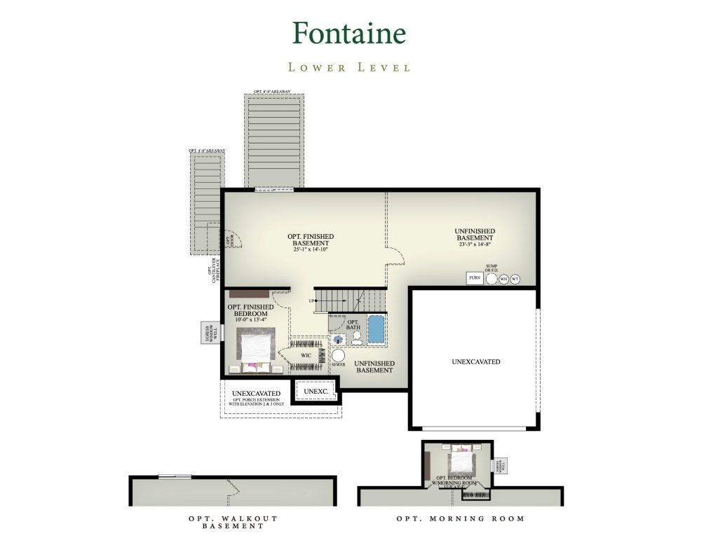 Fontaine home plan lower level