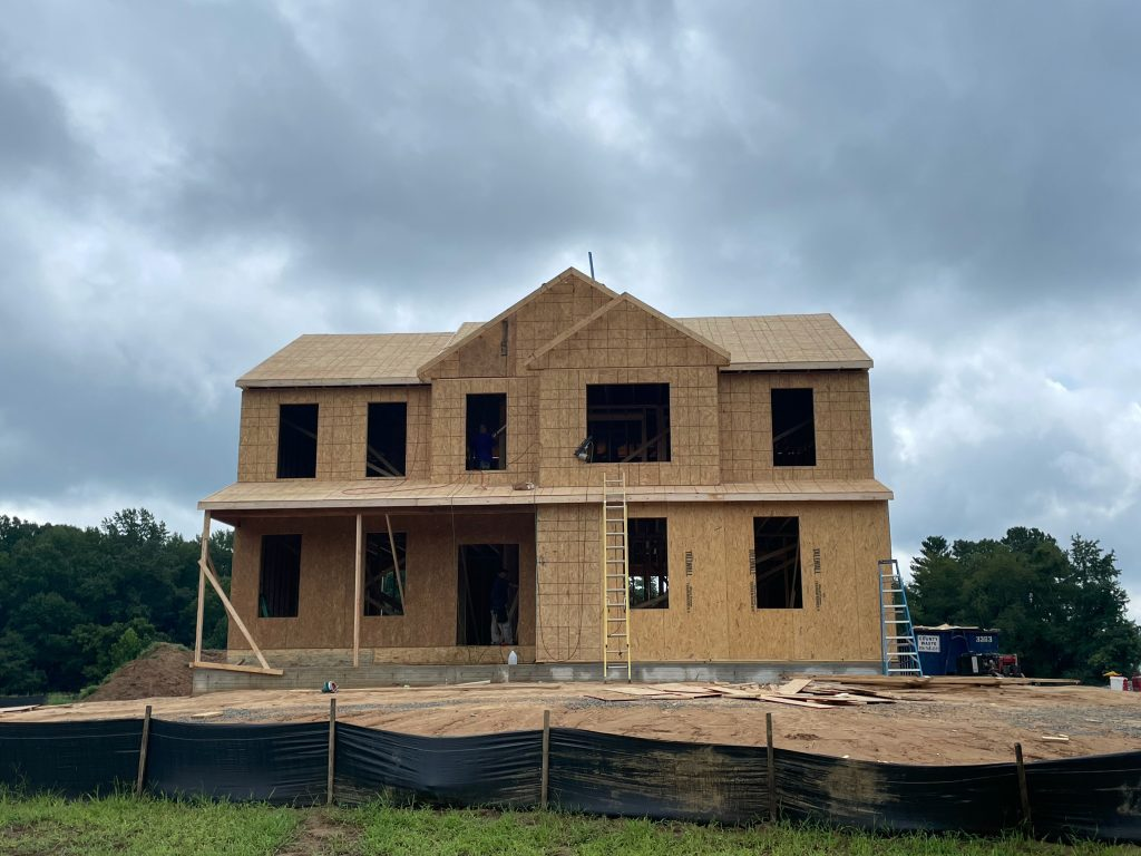 lot 2 home in construction Emery home design